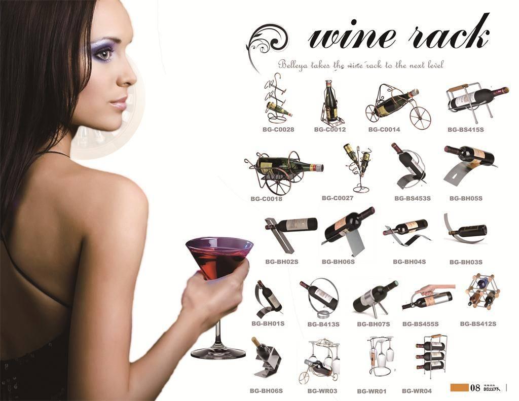 DIY wine rack,wine cellar, wine bottle and glass holder