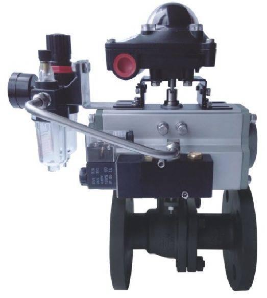 Professional Pneumatic high platform flanged ball valve
