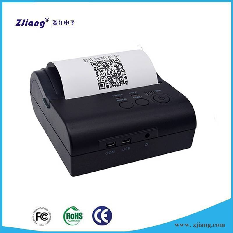 ZJ-8001 Portable Bluetooth Thermal Printer Connected to Smartphone Tablet PC Laptop