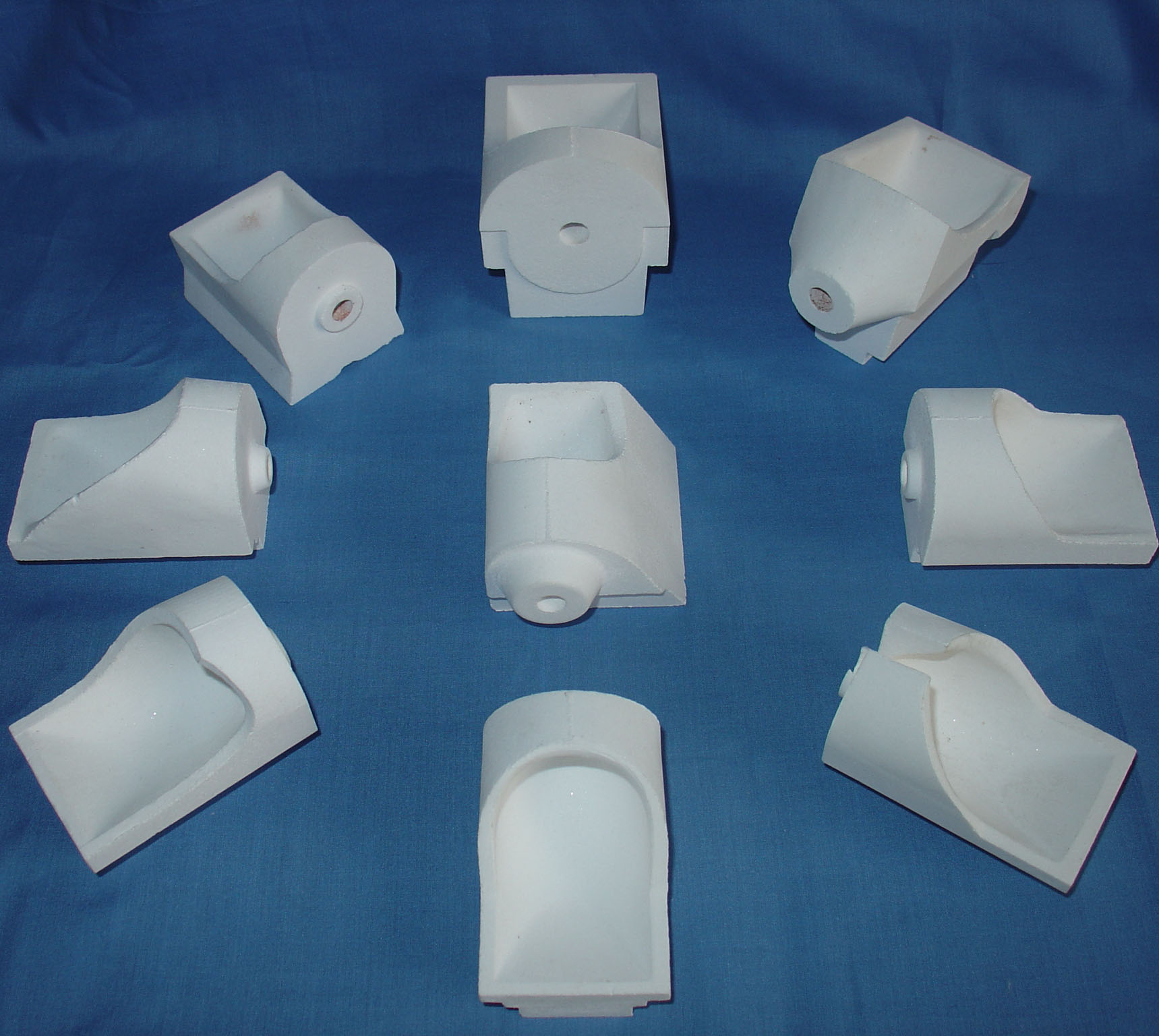 High Quality Dental Lab Ceramic Crucibles Series ( Vertical ,Horizontal )