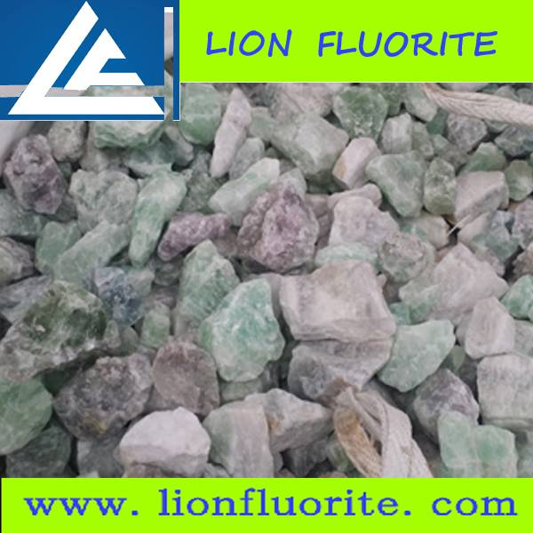 Metallurgical grade CaF2 80% fluorspar lump with low Fe2O3 0.04%-0.08% 10-60mm