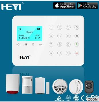 11 zone types alarm system(Delay, burglar, fire, gas, duress, panic, medical) alarm system