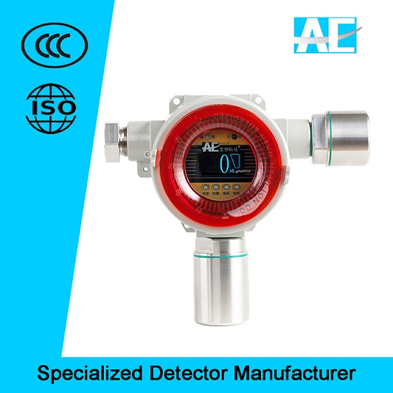 Factory price Wall-mounted Fixed Toxic Gas Detector with OLED display