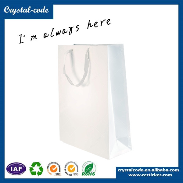 Elegant shape reliable recycled paper bag,white paper bag
