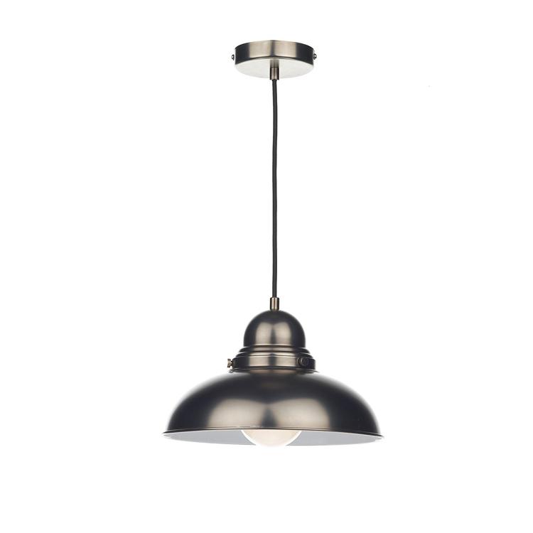 CE IDOYA Hanging Pendant lamps celling lighting metal shade E26 black chrome/painting