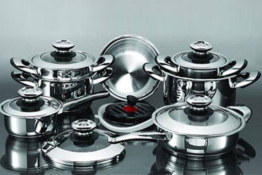 Frying pan and other kitchenware 16Pcs Stainless steel cookware set