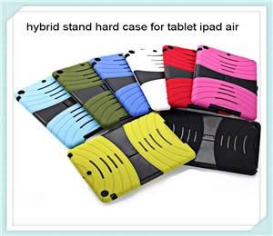 Exporter HyBrid Rubber Hard Kickstand Case for ipad air