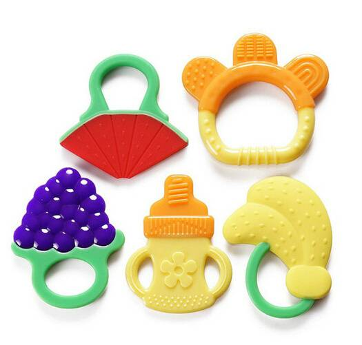 BPA Free Food Grade Custom Made Silicone Baby Teethers
