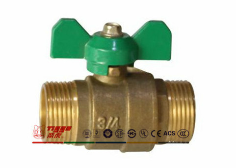 Mm Forged Brass Ball Valve with Butterfly Handle Art. T01069