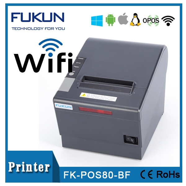 Auto Cutter Wireless Wifi Pos Thermal Printer 80mm Support Free SDK