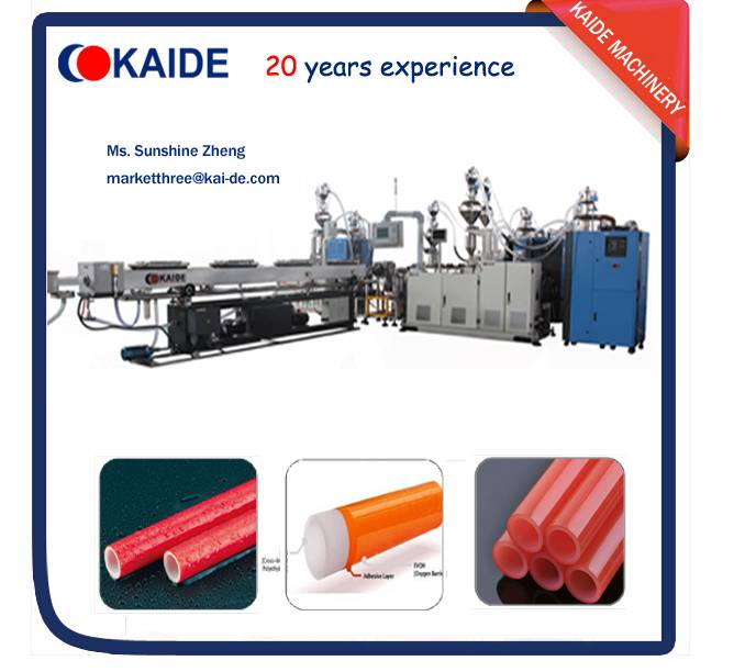 PERT/EVOH oxygen barrier pipe production line KAIDE