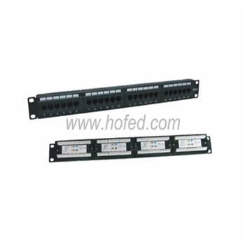 "Cat5E/6/6A Patch Panel,UTP,19"",24 ports,110 IDC/Krone IDC/Dual"