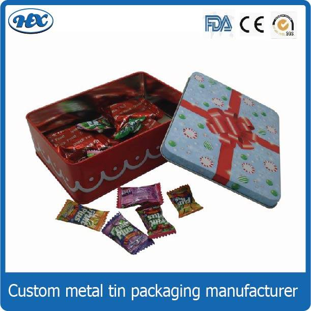 Metal candy tin box