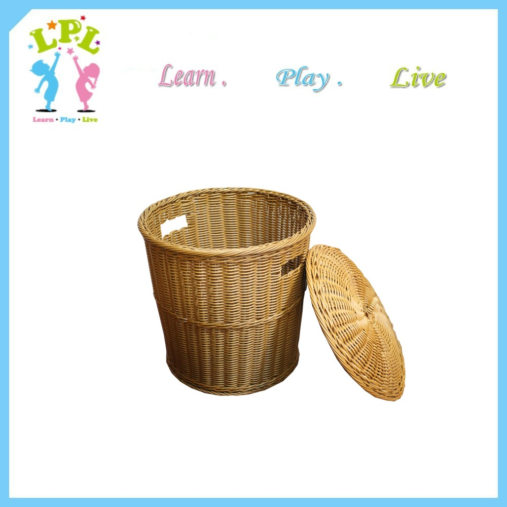 Bathroom clothes storage cool Dirty Laundry Hamper With Lid Bamboo Basket