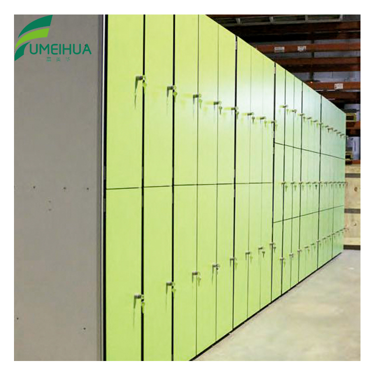 Colorful waterproof hpl locker for club gym