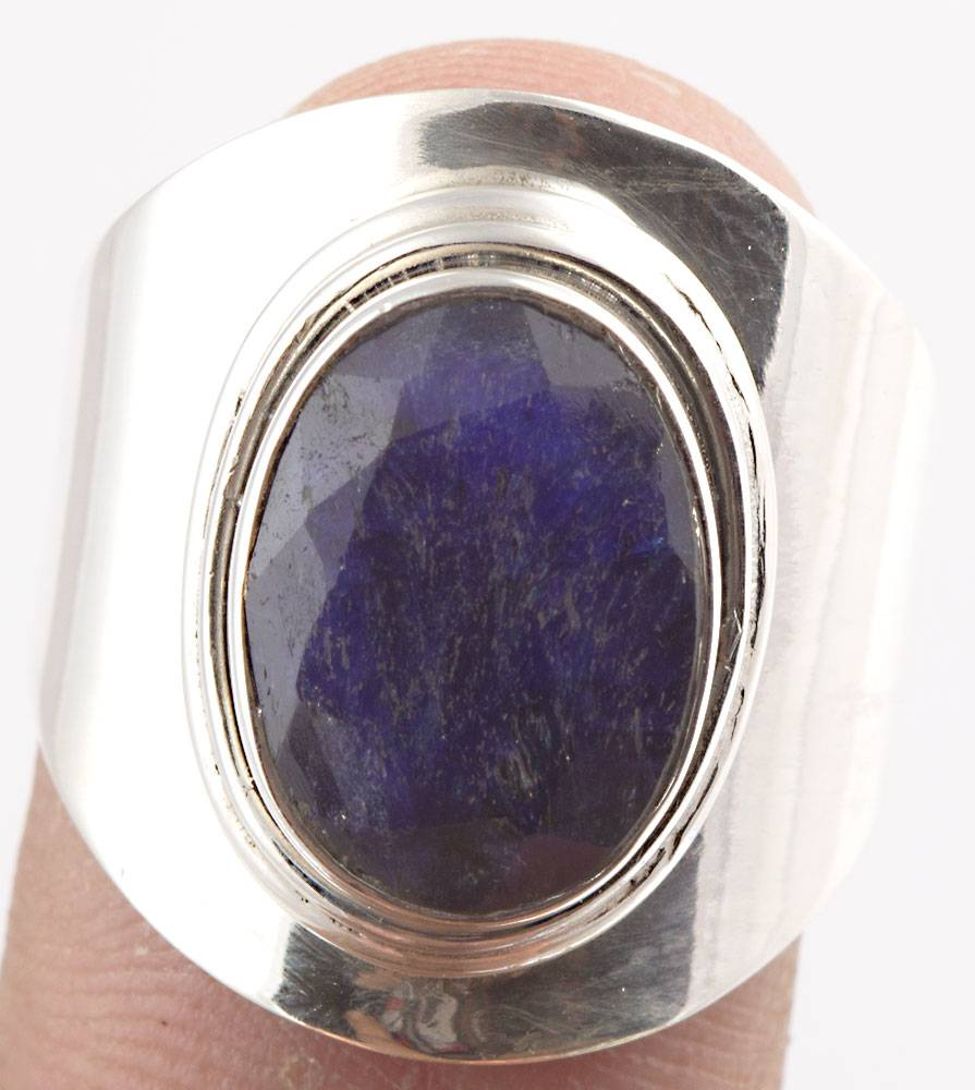 92.5 sterling silver sapphire Ring