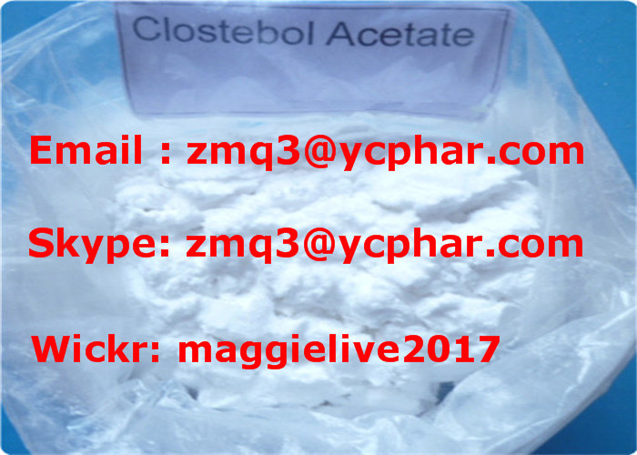 99% Purity Muscle Building Steroids Powder Clostebol Acetate 4-Chlorotestosterone Acetate CAS 855-19