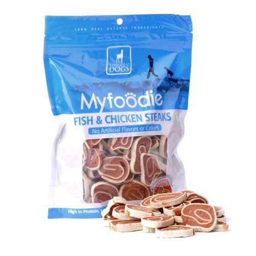 Myfoodie Gourmet All Natural Fish Chicken Steaks Dog Treats 16oz