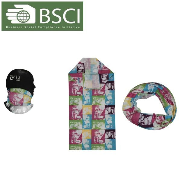 100% Polyester printed sports cool dry fit breathable Seamless Multifunctional Custom Bandana