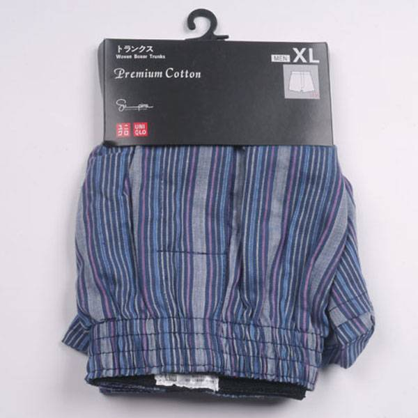 100% cotton mens beach short with paper card packing