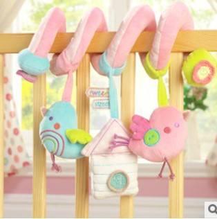 Bird music bed around toys