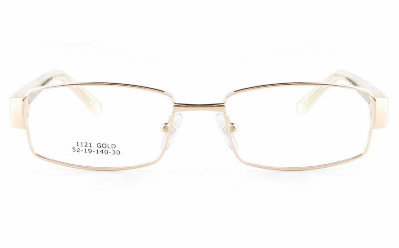 Gold 1121 Full Rim Square Metal-Stainless Steel/ZYL Glasses