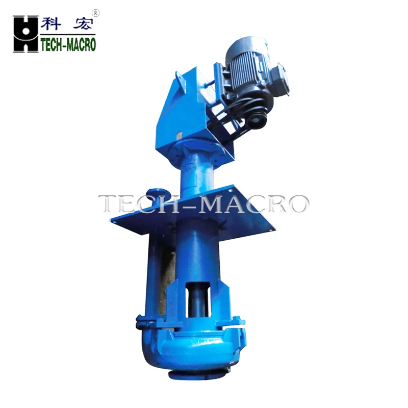 Rubber lined Corrosive Vertical Slurry Pump, semi open horizontal submersible sump pump