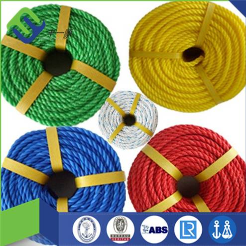 3 strand colored pe rope made in China