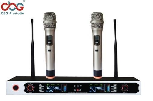 iWP-2190 100 CHN UHF PLL Dual Wireless Microphone