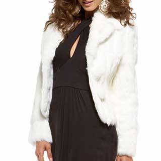 White Rabbit fur jacket