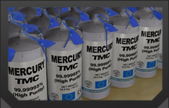 99.99995% Pure Silver Liquid Mercury