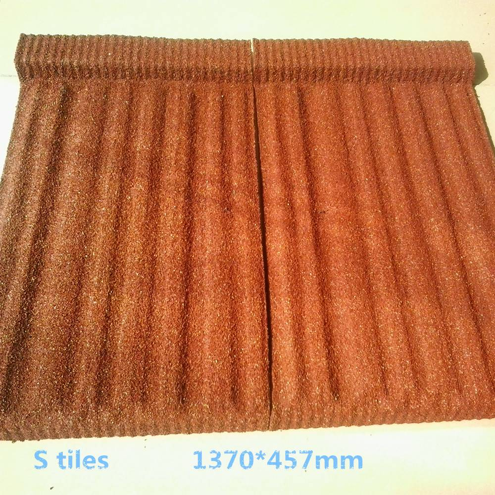 clolorful stone coated metal roofing tiles