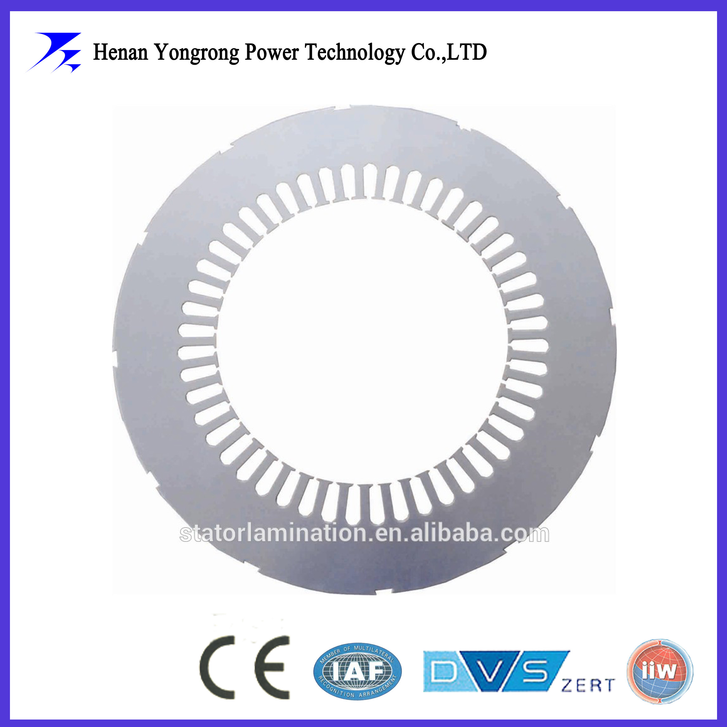 Induction motor silicon steel cores and laminations