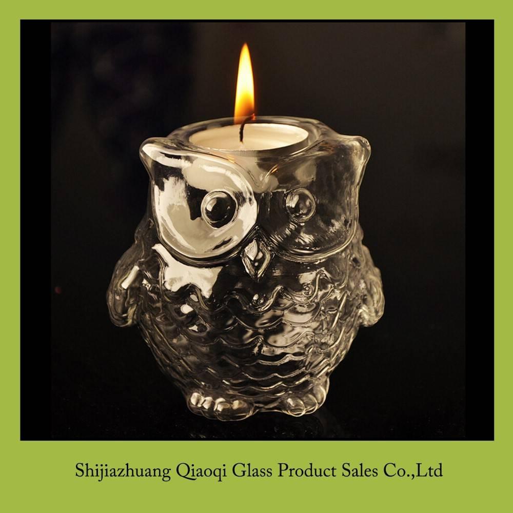 European owl candlestick
