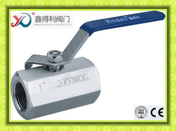 high pressure 2000WOG 1 pc ball valve with female thread