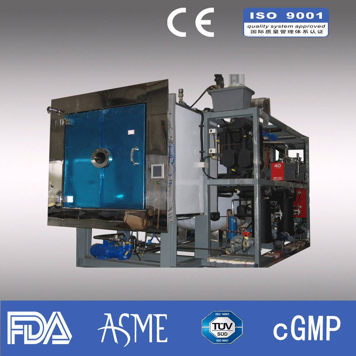 Freeze dryer/ Pharmaceutical freeze dryer/ industrial freeze dryer/Capacity 1000kg