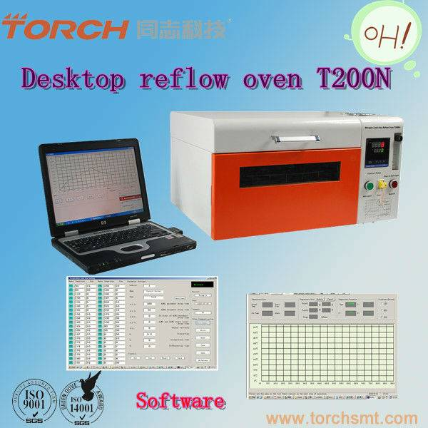 Desk top Nitrogen lead-free Reflow oven T200N (Torch)