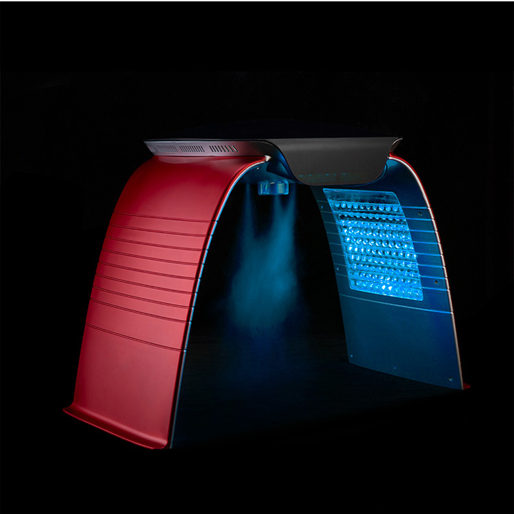 SA-PP04 7 colors PDT led light therapy machine with face spa spray steam