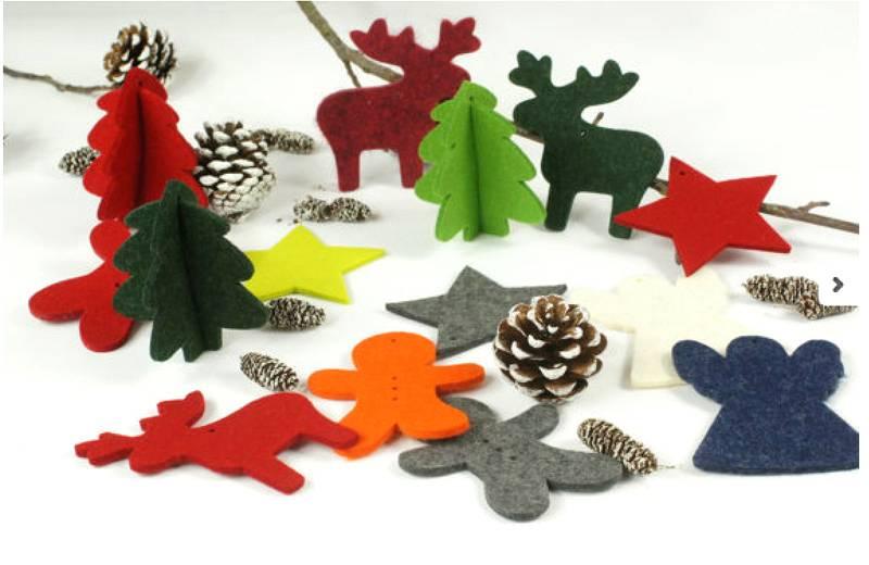 Felt Christmas Gifts Crafts/Felt Regalo di Natale/Filz Weihnachts-Geschenk/Felt Regalo de Navidad