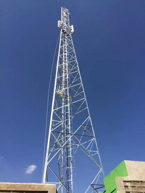 50meters Telecommunication Antenna Steel Tower