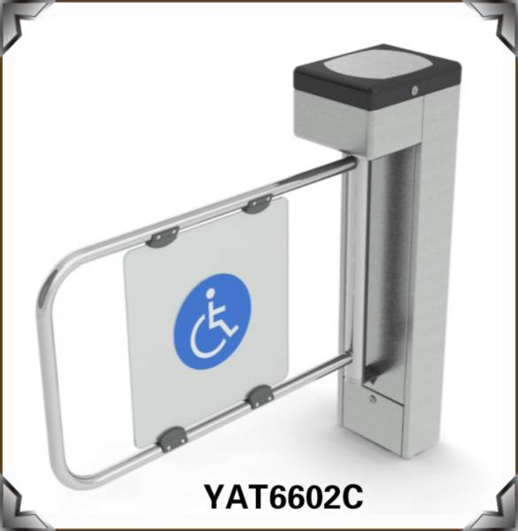 Disabled Used Swing Turnstile For Heathcare Access Control