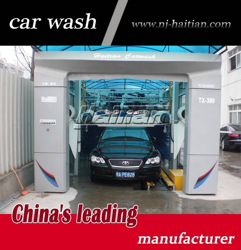 2015 new tunnel high pressure car washing machinery TX-380G automatic car wash machine price