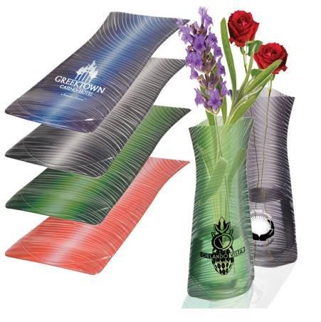 Foldable PVC Flower Vases/vases wholesale china/promotional PVC flower vase/plastic fahion folding v