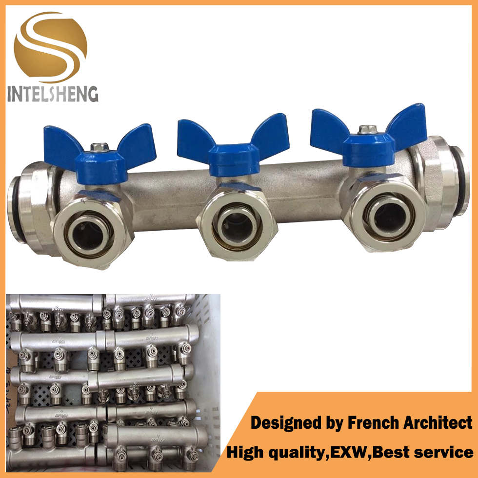 Water Media and Control Structure Brass Manifold