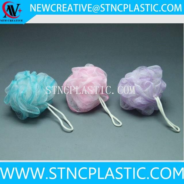cheap colorful shower mesh sponge ball 20g