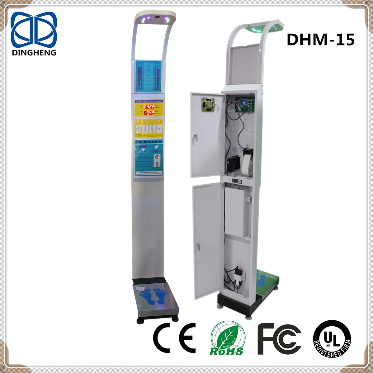 DHM-15 Arabic smart body fat analysis scale weighing and height body scales with coin accepter
