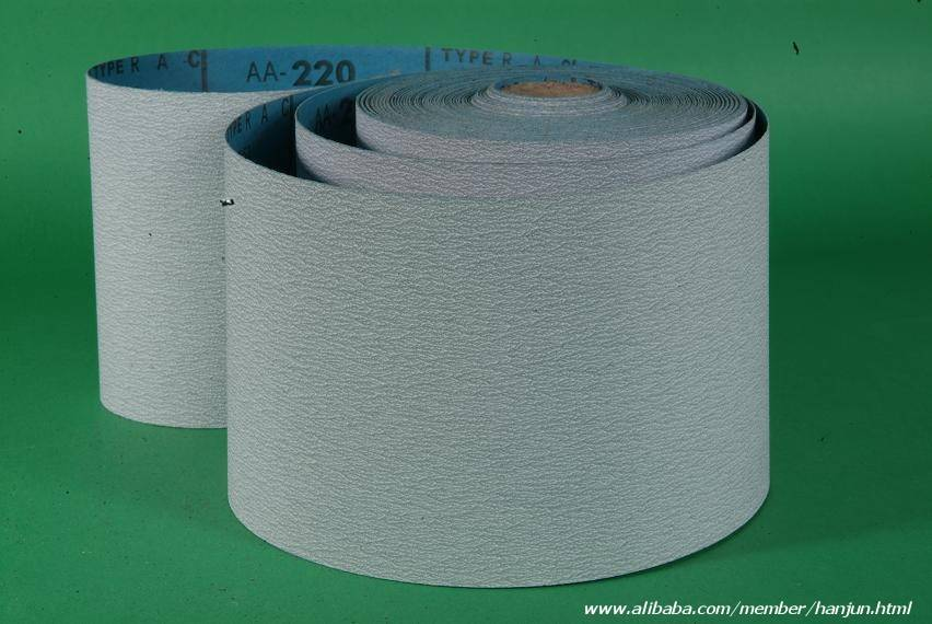 Zinc-stearate wood abrasive paper roll