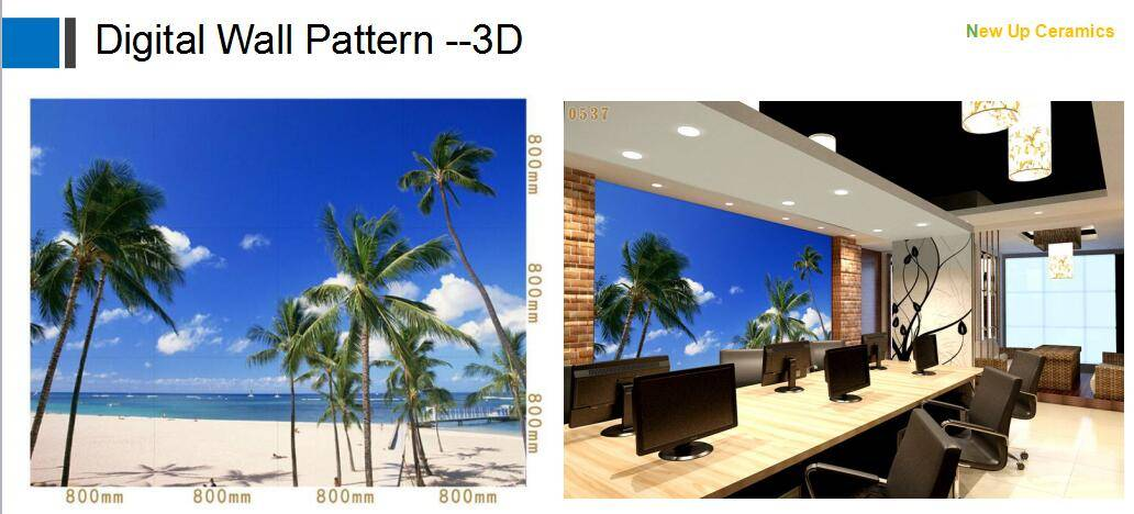Beach View 3D backgrougnd wall decoration pattern accessory tiles