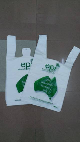 Biodegardable t-shirt plastic bag manufacturer singlet bag