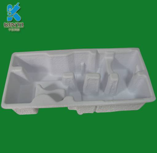 1.100% Thermoformed Fiber rustic paper pulp box, compostable molded pulp tray